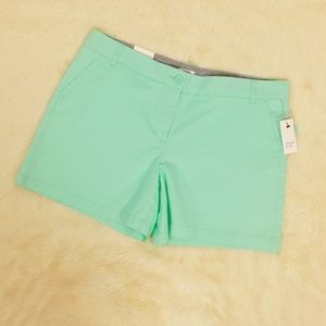 Crown & Ivy Shorts Twill Chino Mint Size 12 NWT